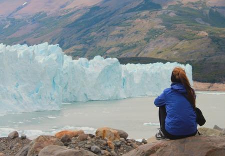 perito: Perito Moreno View Stock Photo