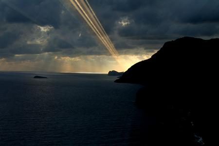 positano: Sunset in Positano Stock Photo