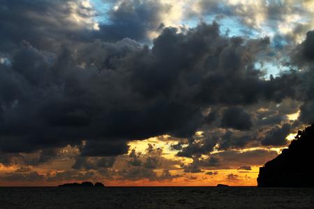 positano: Positano at sunset