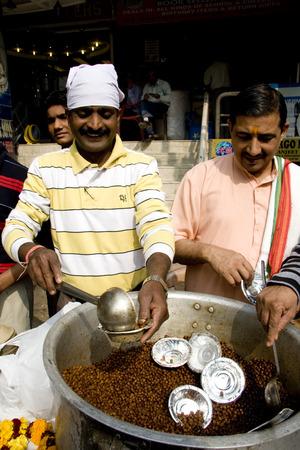 food distribution: Guru Nanak Jayanti celebration in Delhi, India