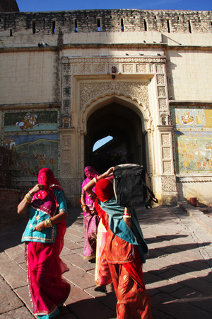 rajput: Mehrangarh Fort in Jodhpur, India Stock Photo