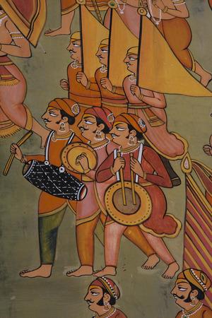 wall painting: Indian wall painting at Muslim shrine at Mehrangarh Fort in Jodhpur, India