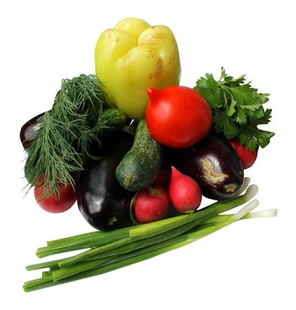 It is a lot of vegetables fresh isolated on a white background