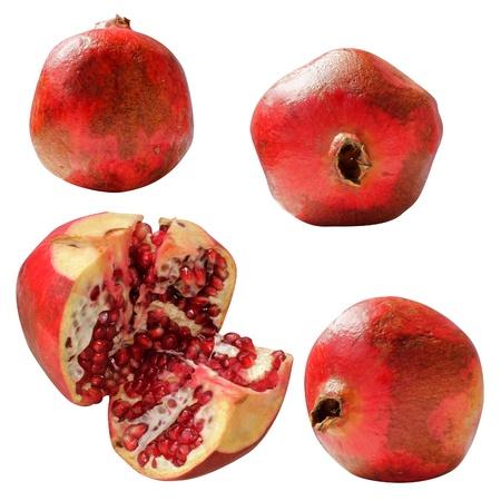 pomegranates fresh isolated on white