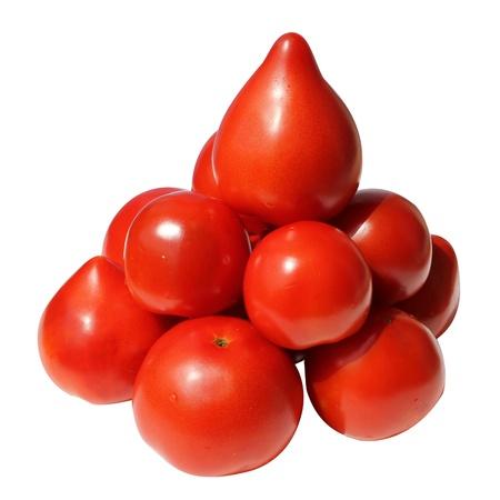 freshness natural tomatos isolated on white background Stock Photo