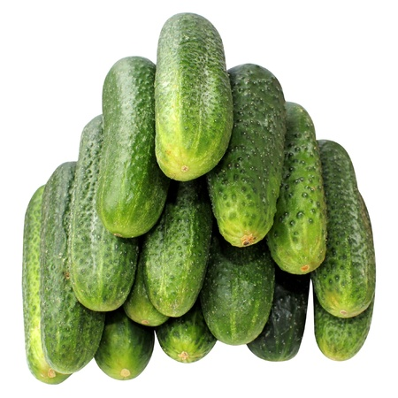 freshness natural cucumbers isolated on white background