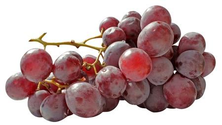 sweet grapes isolated on white background Stock Photo