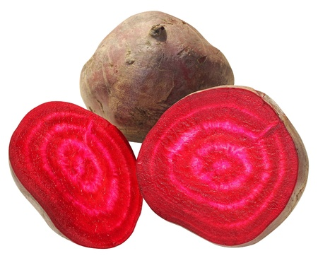 sweet red beet from the inside rifled Stock Photo