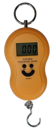 digital scales isolated on the white background photo