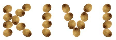 The word kivi vitamin with fruits kivi photo