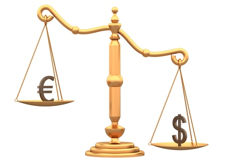 Libra shows the difference between the currencies of a white Stock Photo - 10472706