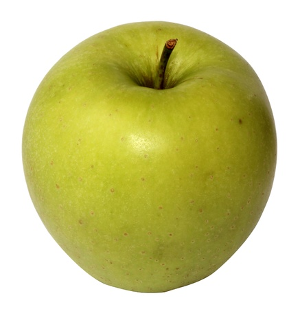 juicy apple whole and rifled form on white background