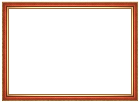 Frame for picture isolated on white background Stock Photo