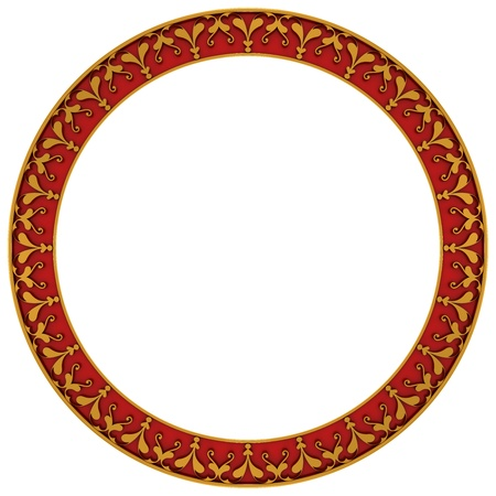 round frame: Round frame made of gold on a white background