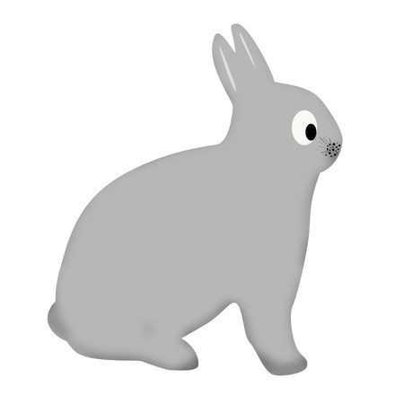 Cute funny bunny with big eyes, illustrationFunny cartoon and sporty character illustration
