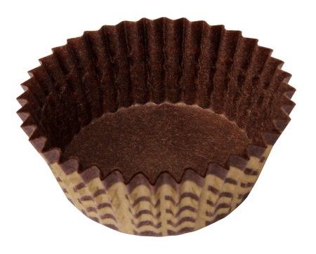 muffin paper iskolated on a white background Stock Photo