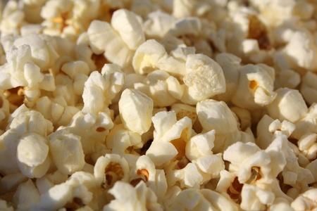 Popcorn is a close-up photos