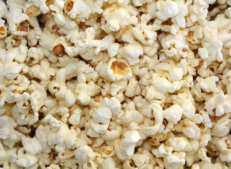 Popcorn is a close-up