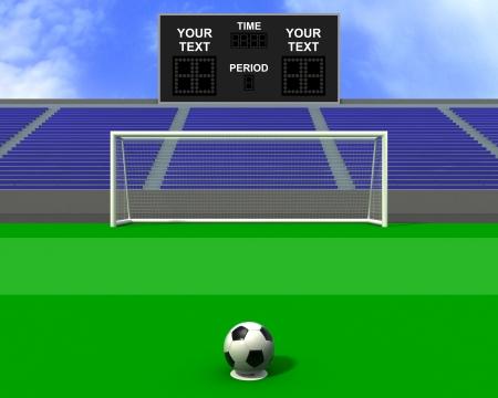 Football penalty kick at goal eleven meters