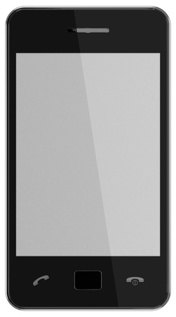 New model of Smartphone isolated on white background