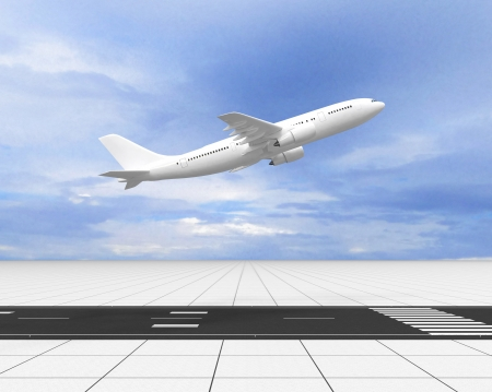 A passenger plane on the runway