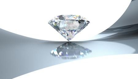 Brilliant 3 carats Stock Photo