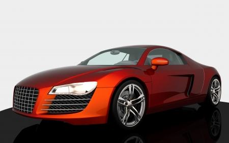 Orange sport car