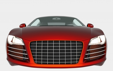 Orange sport car solated on white background