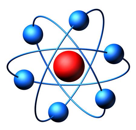 nodal: Atom molecules isolated on white background