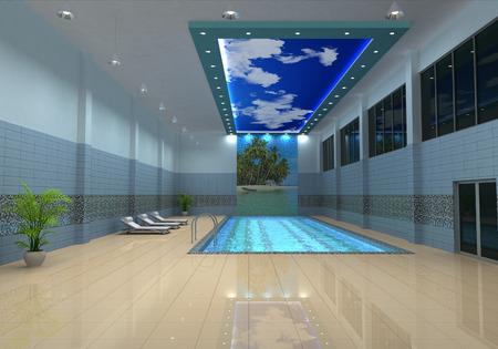 Visualization of swimming pool