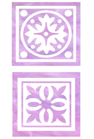 celts: two rose book patterns painted in watercolor