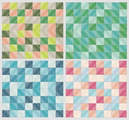 Four variants of glassy colorful tile background Stock Vector - 19053687