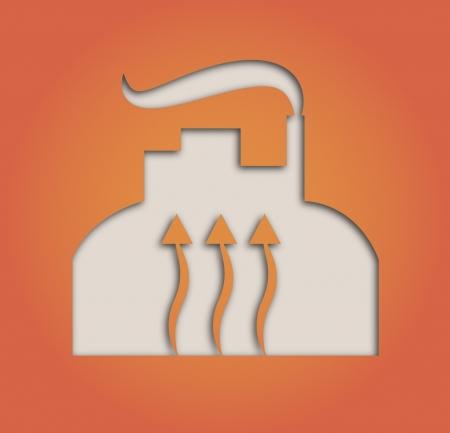illustratie van papier uitgesneden geothermische warmtepomp Stock Illustratie
