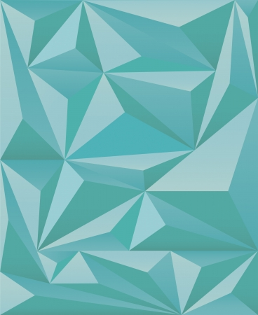 abstract background with triangles in turquoise color Stock Vector - 19475052