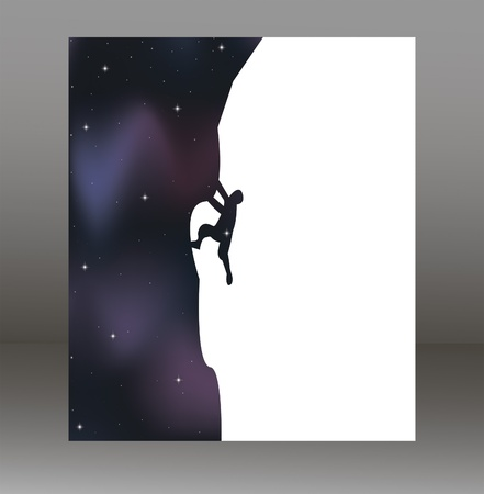vector illustration of mountain and rock climber which can be used as card, poster or banner Stock Vector - 19610903
