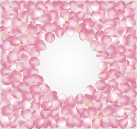 illustration of background, consisting of rose petals, can be used for cards, banners, advertisement Illustration