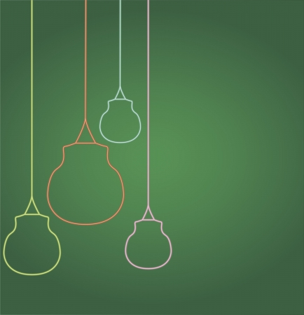 Vector illustration of glowing hanging bulbs, can be used as banner, card, poster Stock Vector - 20886339