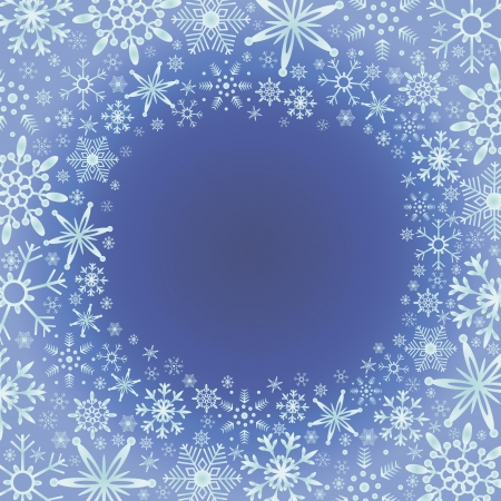 vector illustration of window covered by snowflakes Illustration