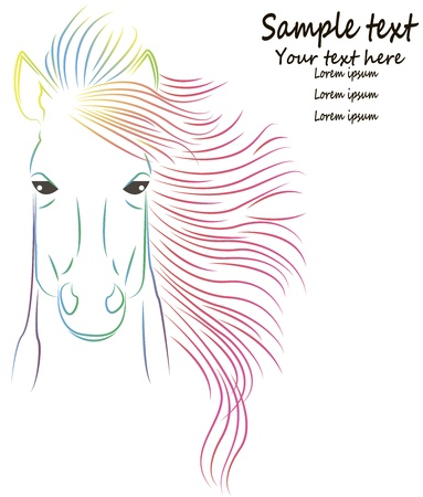 illustration of colorful horse drawing Stock Vector - 22005349