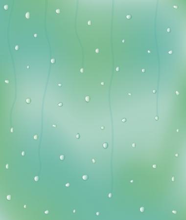 vector illustration of rain drops on the window Stock Vector - 22478941