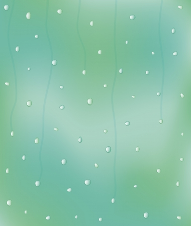vector illustration of rain drops on the window Stock Vector - 22478941