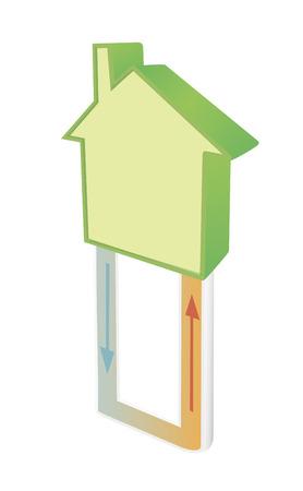 vector illustratie van geothermische verwarming
