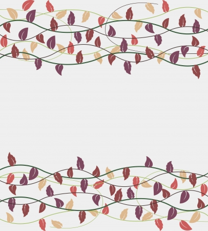 vector illustration of fall leaves decoration