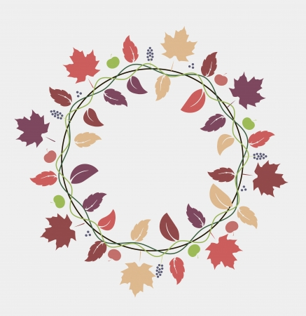 vector illustration of fall leaves decoration Vector