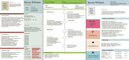 combined: Modelo del vector del curriculum vitae diferentes tipos funcionales, cronol�gicos y combinados