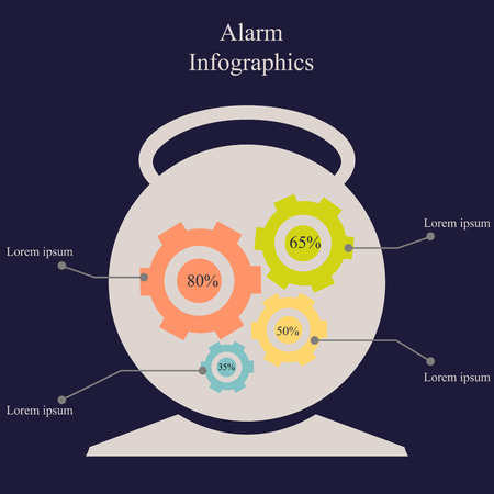 urgently: Vector illustration of infographic elements in form of alarm