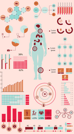 health healthcare: Vector conjunto de elementos infogr�ficos en relaci�n a la medicina, la salud, la salud y otros temas m�dicos