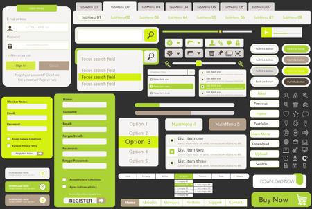Vector sjablonen voor website, gemaakt in Flat Web Design met knoppen en iconen, bevat een pagina website templates en begrip illustraties plat ontwerp