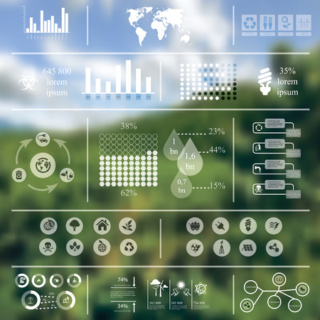 earning: illustration of ecology infographics in Minimalistic style concerning to ecology