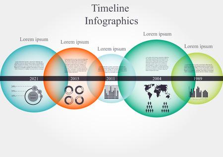 Illustratie van tijdlijn infographics